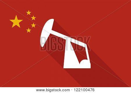 China Long Shadow Flag With A Horsehead Pump