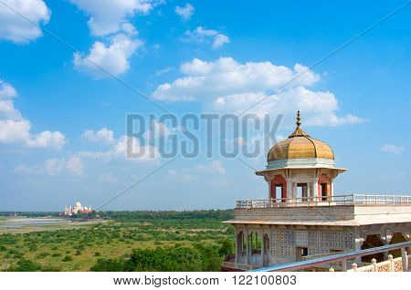 Taj Mahal From Agra Fort , Uttar Pradesh, India