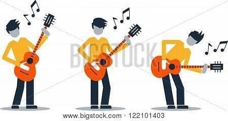 Music band performance. Bright attractive illustration for a cover or poster.