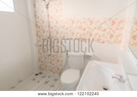 Lavatory Flush Toilet (blurry Defocused For Interior Background)