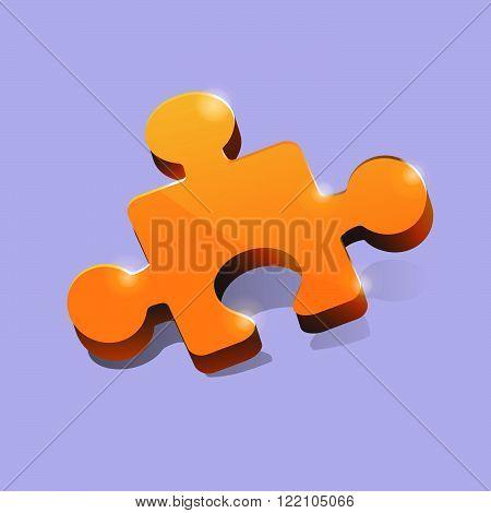Puzzle mosaic surround 3d vector. member icon