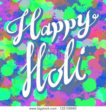 Creative Flyer, Banner Or Pamphlet Design For Indian Festival Of Colours, Happy Holi Celebration.