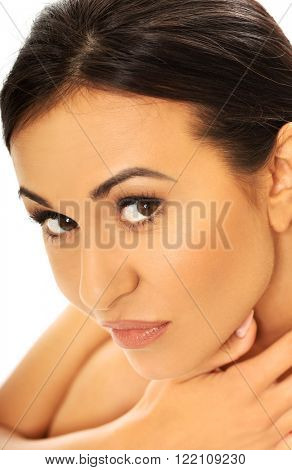 Spa woman looking with desire at the camera