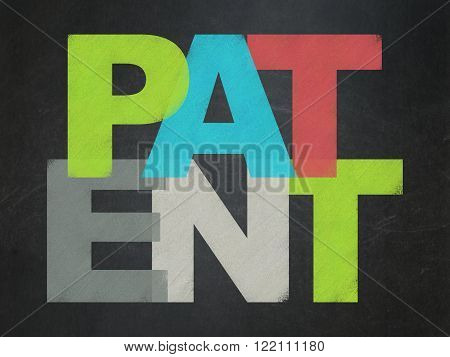 Law concept: Patent on School Board background