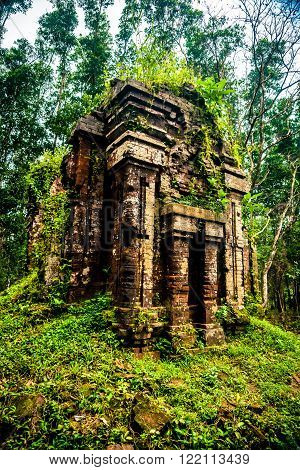 My Son, Ancient Hindu temples of Cham culture in Vietnam near the cities of Hoi An and Da Nang.