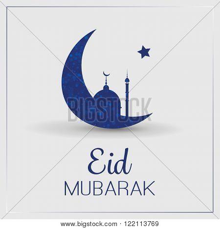 Eid Mubarak - Moon in the Sky - Greeting Card for Muslim Community Festival