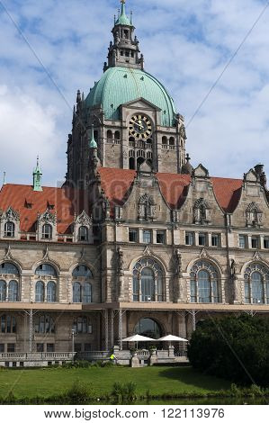 City hall in Hanover at summer day