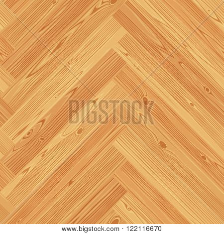 Herringbone parquet seamless floor texture. Editable vector pattern in swatches.
