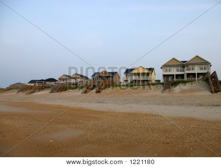 Beach Houses In A Row