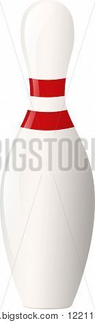 Vector illustration. Bowling pin isolated on a white background