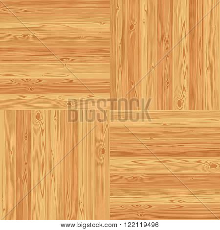 Square parquet seamless floor texture. Editable vector pattern in swatches.