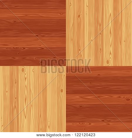 Chess square parquet seamless floor texture. Editable vector pattern in swatches.