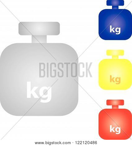 Symbol weight in different colors on a white background