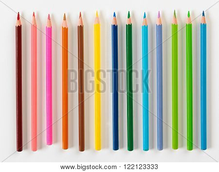 Set Of Thirteen Pencils