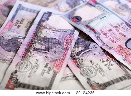 Nepalese banknotes 1000 Rupees. Currency of Nepal.