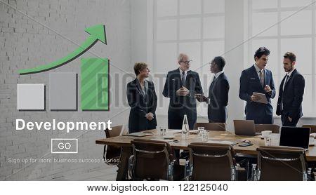 Development Growth Change Success Management Concept