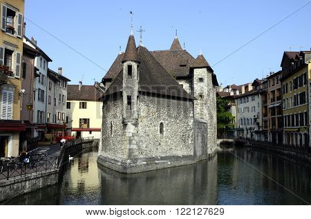 Medieval Old town and prison of Annecy France