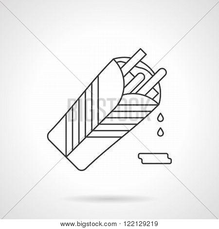 Burritos flat thin line vector icon
