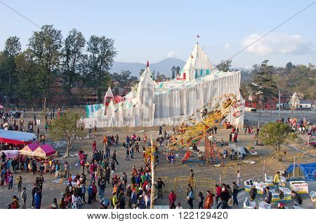 People In Amusement Park In Kathmandu, Nepal