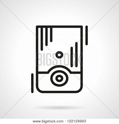 Water boiler black line vector icon
