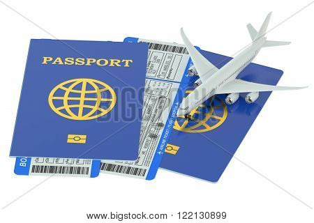 avia travel concept isolated on white background