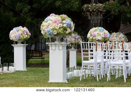 Beautiful wedding set up for the wedding ceremony