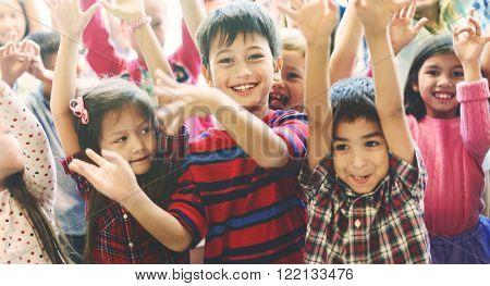 Child Companionship Diversity Ethnicity Unity Concept