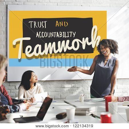 Teamwork Connection Alliance Association Team Concept