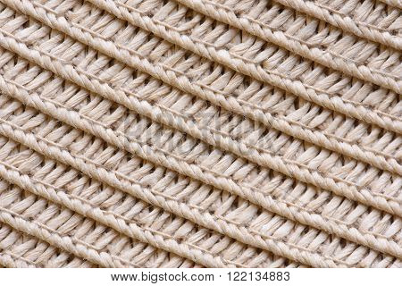 Straw hat texture closeup as background or texture