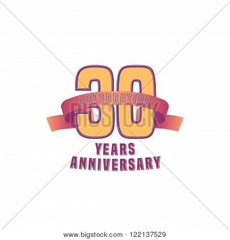 Vector design for Thirty years anniversary celebration