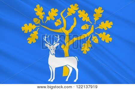 Flag of Berkshire is a royal county of south east England located to the west of London