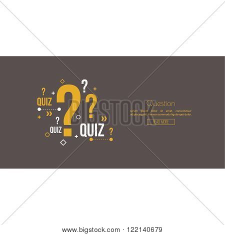 Quiz background. The concept is the question with the answer. vector. Line art. Web and mobile app.