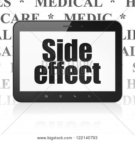 Medicine concept: Tablet Computer with Side Effect on display