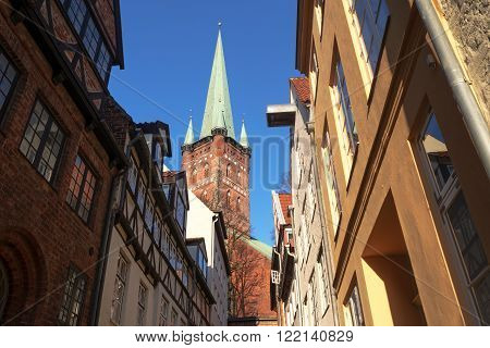 typical narrow urban street