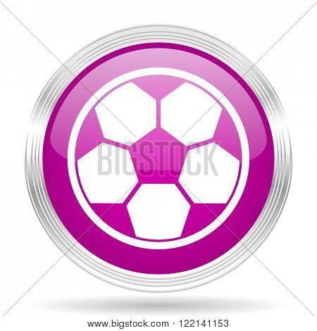 soccer pink modern web design glossy circle icon