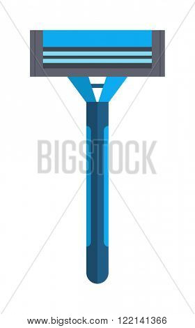 Shaving razor isolated vector illustration on white background. Razor for shaving and care razor shaver safety equipment vector.