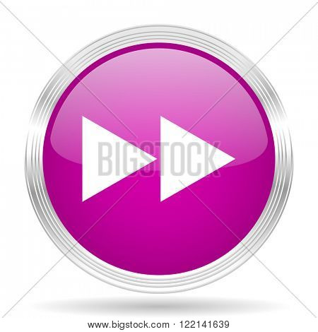 rewind pink modern web design glossy circle icon