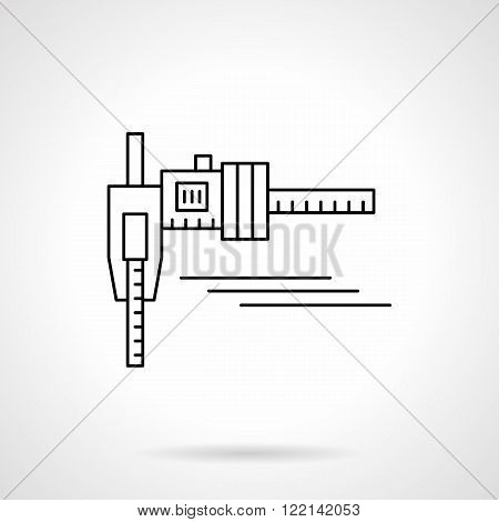 Calipers flat thin line vector icon
