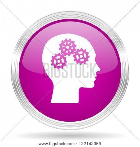head pink modern web design glossy circle icon