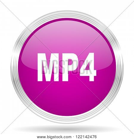 mp4 pink modern web design glossy circle icon