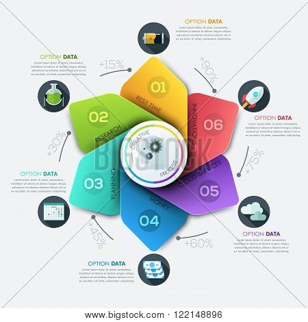 Modern business Infographics cycle origami style. Vector illustration. Can be used for workflow layout, banner, diagram, number options, step up options, web design.