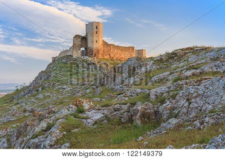 ruins of ancient Enisala royal castle in Dobrogea Romania