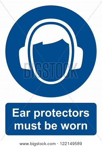 Area where ear protectors must be worn