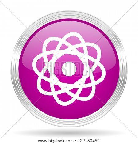 atom pink modern web design glossy circle icon