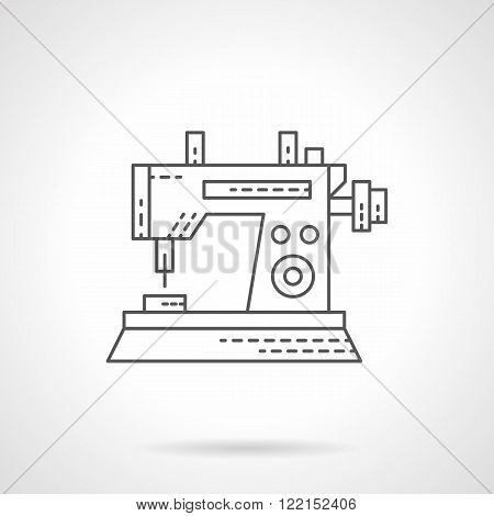 Sewing machine icon flat thin line vector icon