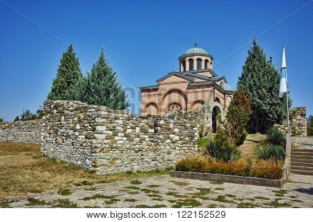 Panoramic view of Medieval Monastery St. John the Baptist, Kardzhali,  Bulgaria