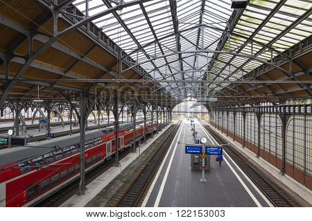 Lubeck Hauptbahnhof Railway Station, Germany