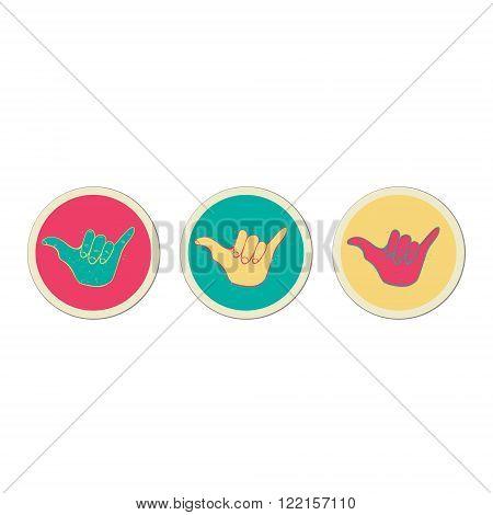 Hang Loose Hand Sign.