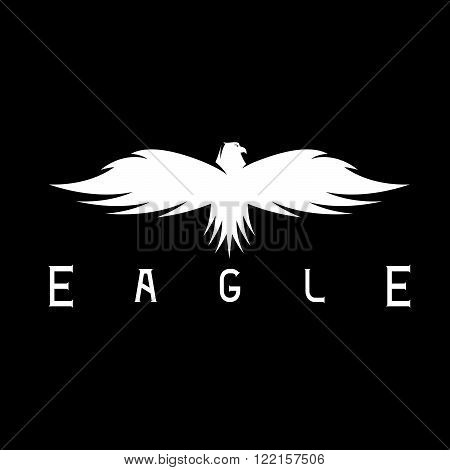 Abstract Vector Design Template Of Bird Eagle