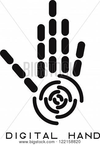 Vector Illustration Concept Of Abstract Digital Hand